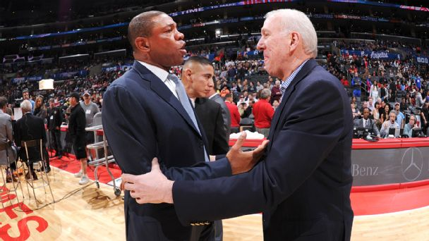 Doc Rivers and Gregg Popovich