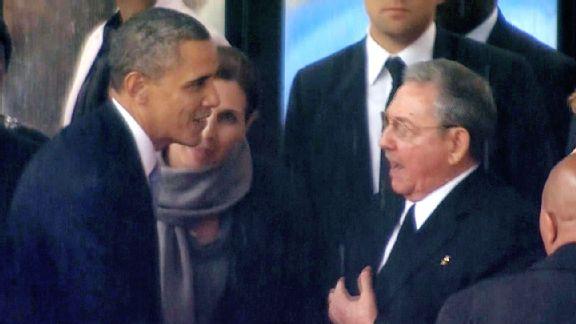 President Barack Obama and President Raul Castro