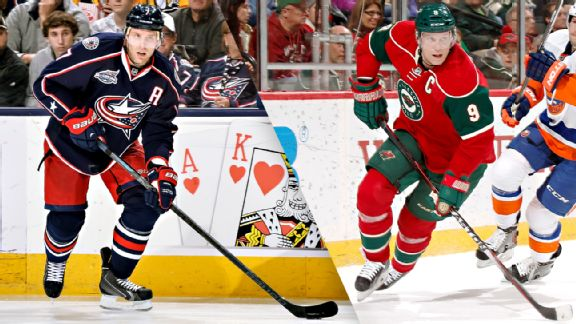 Columbus Blue Jackets, Minnesota Wild, Jack Johnson, Mikko Koivu