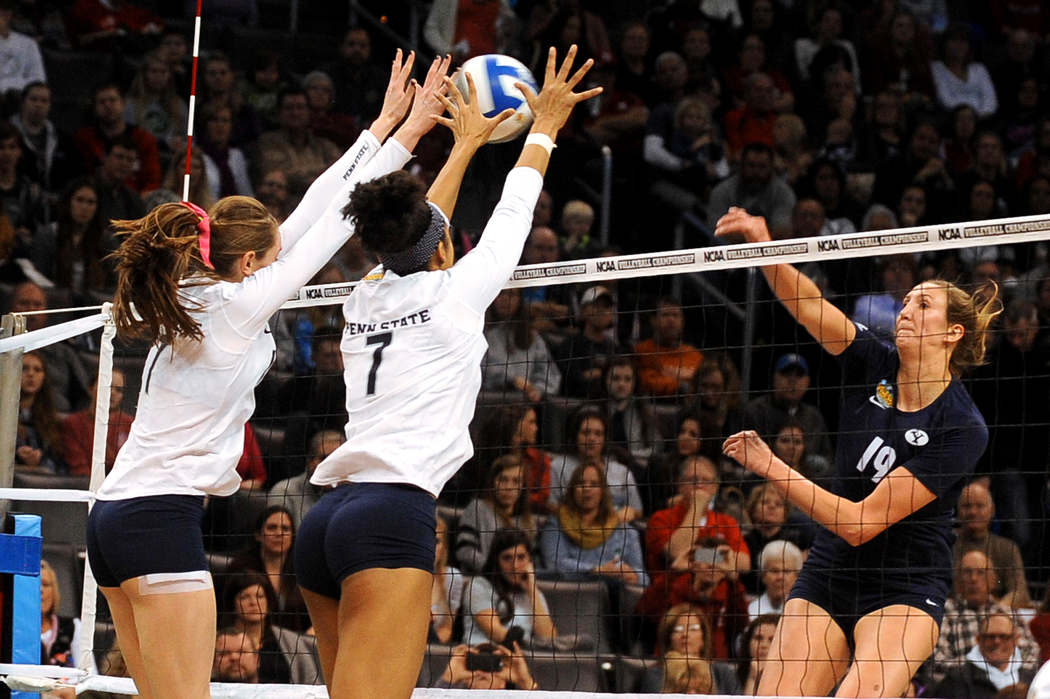 NCAA Volleyball Final: Megan Courtney And Nia Grant