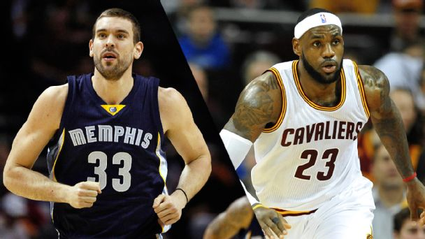 Marc Gasol and LeBron James
