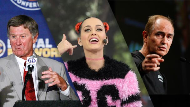 Steve Spurrier, Katy Perry, Art Briles