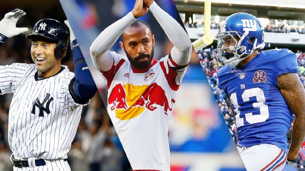 Derek Jeter, Thierry Henry, and Odell Beckham Jr.