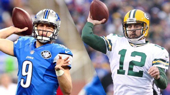 Matthew Stafford and Aaron Rodgers