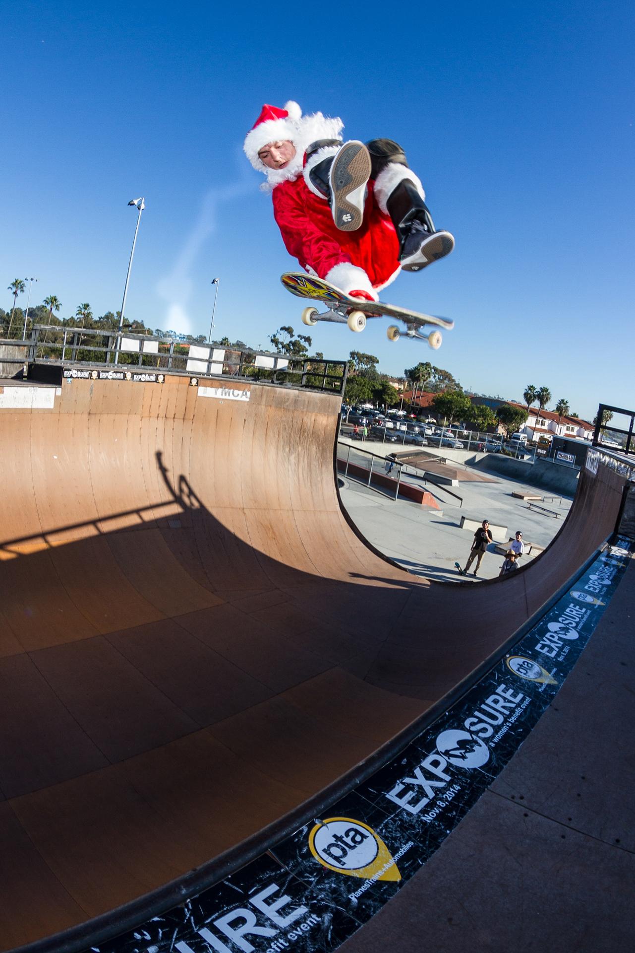 Kickflip Lein Gallery Santa Claus The Skateboarder Click Santa Claus Skateboard
