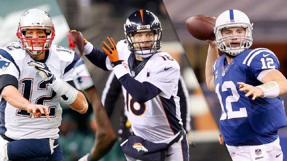 Tom Brady, Peyton Manning & Andrew Luck