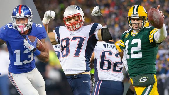 Odell Beckham Jr., Rob Gronkowski & Aaron Rodgers