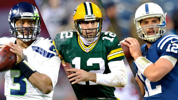 Russell Wilson, Aaron Rodgers, Andrew Luck