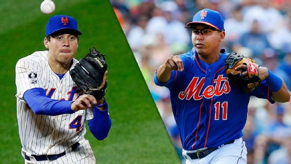 Wilmer Flores and Ruben Tejada