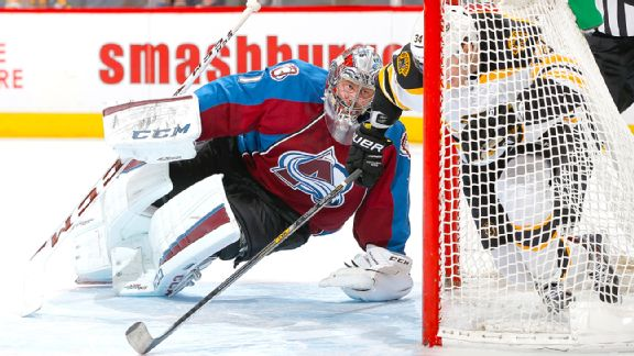 Semyon Varlamov and Carl Soderbeg