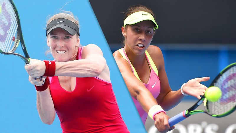 Madison Brengle and Madison Keys