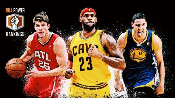 Kyle Korver, LeBron James & Klay Thompson