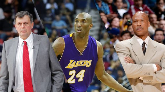 Kevin McHale, Kobe Bryant, and Byron Scott
