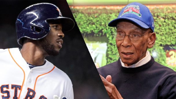 Dexter Fowler and Ernie Banks