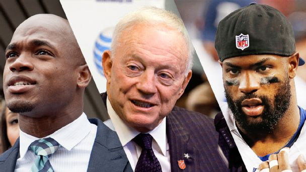 Adrian Peterson, Jerry Jones and DeMarco Murray