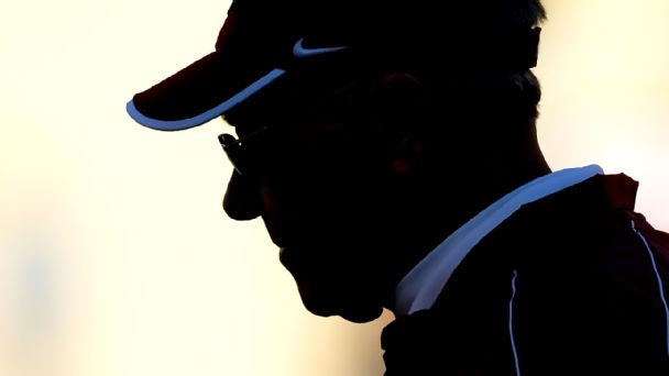 Silhouetted coach