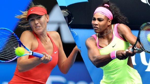 Maria Sharapova and Serena William