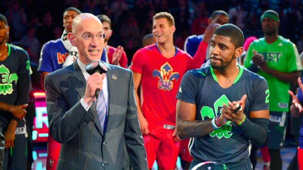 Adam Silver and Kyrie Irving