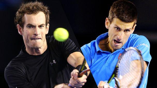 Andy Murray , Novak Djokovic