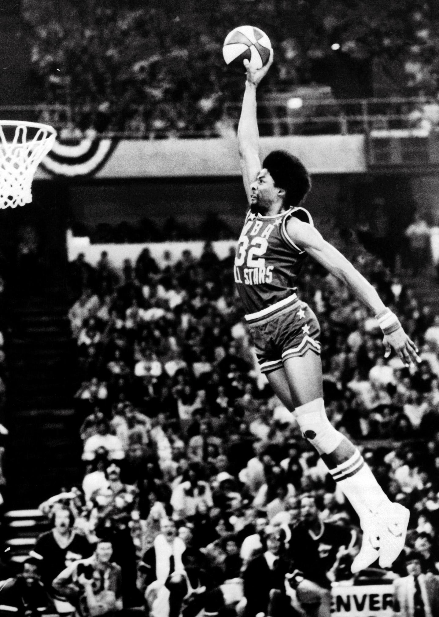 Dr j dunk contest 1976 cadillac