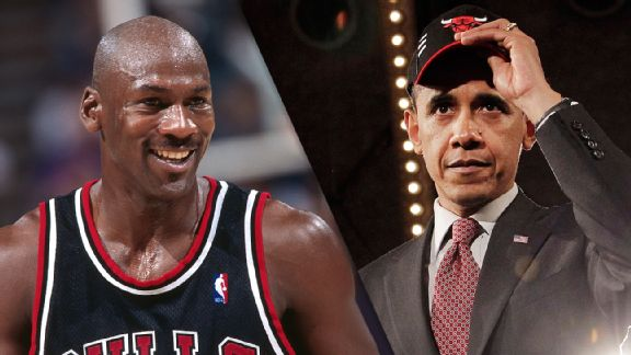 Michael Jordan and Barack Obama