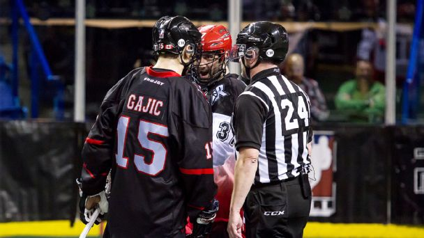 Vancouver Stealth and Calgary Roughnecks