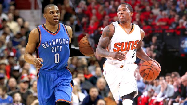 Russell Westbrook and Eric Bledsoe