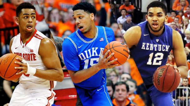 D'Angelo Russell, Jahlil Okafor, Karl Anthony Towns