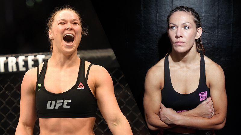 Ronda Rousey and Cris Cyborg Santos