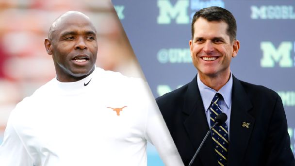 Charlie Strong, Jim Harbaugh