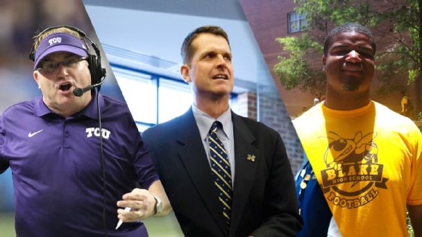 Gary Patterson, Jim Harbaugh, Shavar Manuel