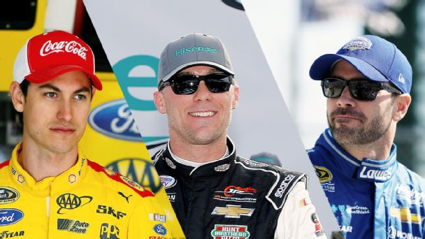Joey Logano, Kevin Harvick, Jimmie Johnson