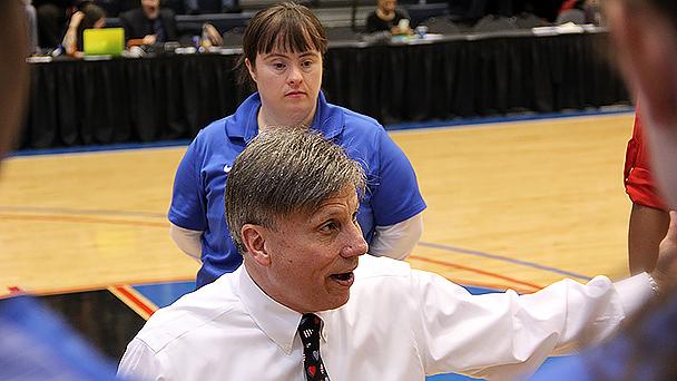 DePaul basketball coach Doug Bruno and Maureen Dillon