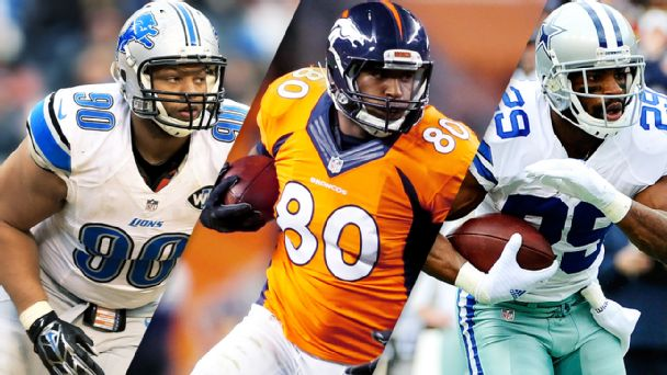 Ndamukong Suh, Julius Thomas, DeMarco Murray