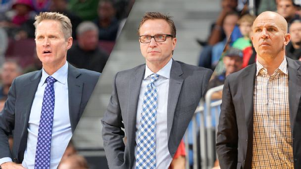 Steve Kerr, Scott Brooks, Jason Kidd