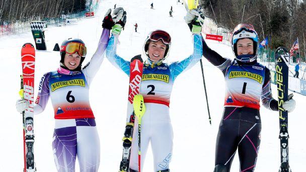 Mikaela Shiffrin, Paula Moltzan, Megan McJames
