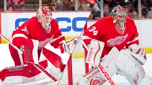 Jimmy Howard and Petr Mrazek