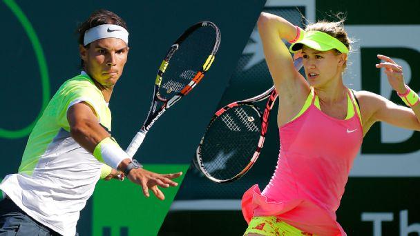 Rafael Nadal and Eugenie Bouchard