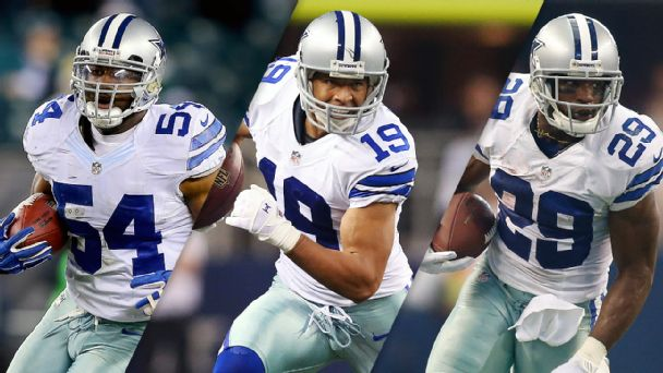 Bruce Carter, Miles Austin and DeMarco Murray