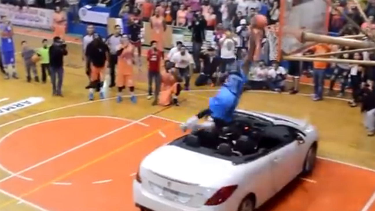 Watch Guy Try To Re Create Blake Griffin S Car Dunk And Fail Horribly Sportsnation Espn