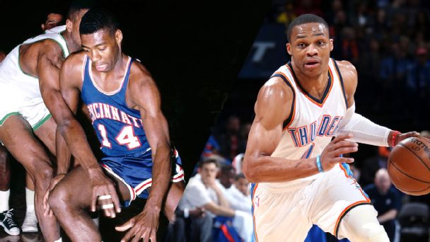Russell Westbrook and Oscar Robertson