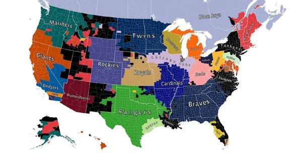 Heres what the map of MLB fandom looks like on Facebook