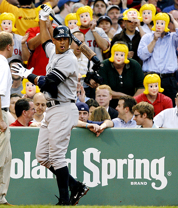 Alex Rodriguez, Blonde masks, red sox