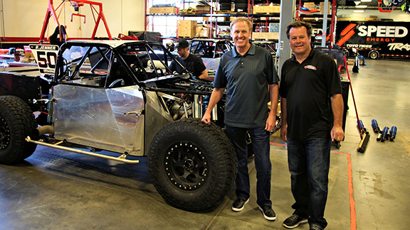NASCAR Hall of Famer Rusty Wallace (left, pictured with Robby Gordon) will come out of retirement to compete in off-road truck racing at X Games Austin in June.