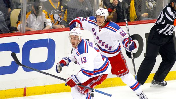 Kevin Hayes and Carl Hagelin