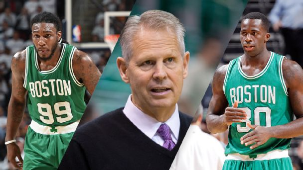 Jae Crowder, Danny Ainge and Brandon Bass