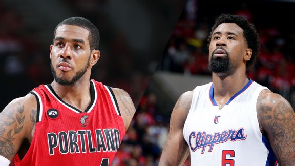 LaMarcus Aldridge and DeAndre Jordan