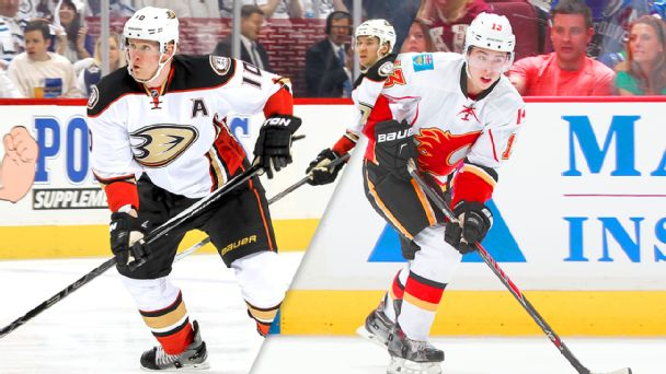Corey Perry and Johnny Gaudreau