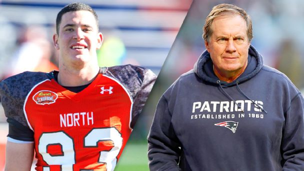Joe Cardona and Bill Belichick