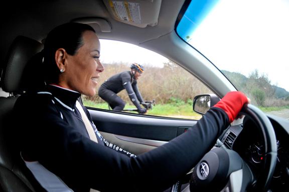Mari Holden Cyclist Barry Bonds uses money...